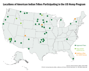 After years of delay, American Indian tribes still face difficulty realizing new economic opportunities in hemp