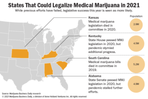 These four states could legalize medical marijuana through legislation in 2021
