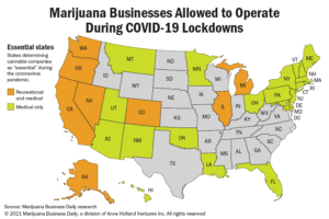How 'essential' transformed the US marijuana industry amid the COVID-19 pandemic