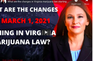 What are the changes in Virginia marijuana law starting March 1, 2021?