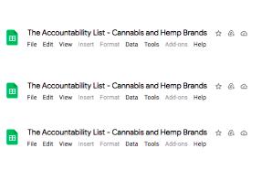 The Accountability List – Cannabis and Hemp Brands