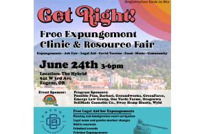 Oregon Cannabis Association Expungment Clinic – Eugene 24 June 2021