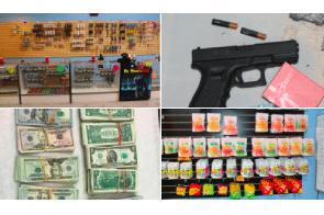 San Diego CA: 3 guns, marijuana, cash seized in San Marcos illegal dispensary raid
