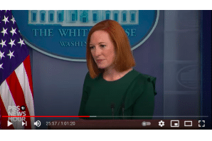 Jen Psaki White House news briefing 15 July 2021 – Schumer Cannabis Bill Comments – Not Positive!