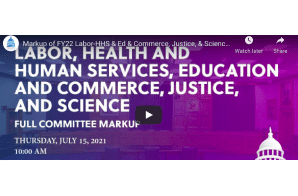 Markup of FY22 Labor-HHS & Ed & Commerce, Justice, & Science Bills (EventID=113908) – Provisions For Medical Cannabis