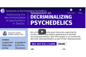 Media Report: 'Launching pad' for next steps on decriminalizing psychedelics in Seattle