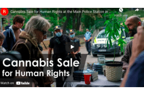 Norway – Activism: Cannabis Sale for Human Rights at the Main Police Station in Oslo