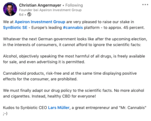 Psychedelic Angermeyer Increases Cannabis Play Ahead Of German Federal Election