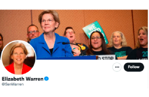 """Sen Warren End of Week Tweet … """"For too long, our country's federal cannabis policy has disproportionately harmed people of color"""""""