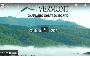 Vermont: Cannabis Control Board – October 8, 2021 [CCB]